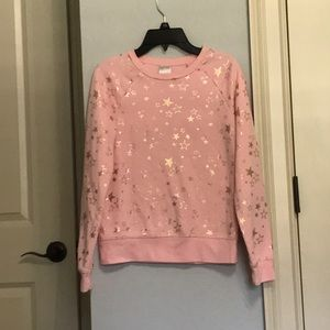 Pink Sweater with Gold Stars